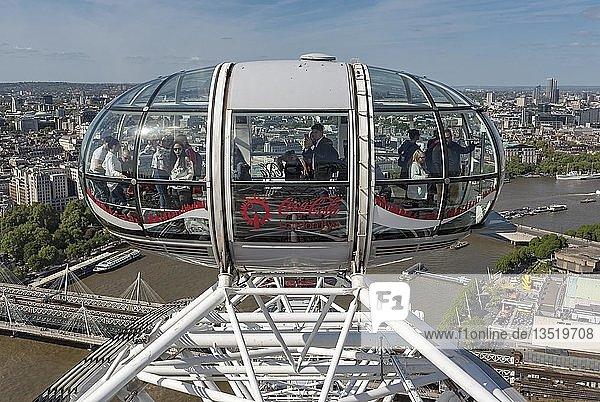 Gondel vom London Eye  England  Großbritannien  Europa