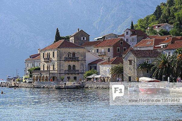 Perast  Bucht von Kotor  Montenegro  Europa