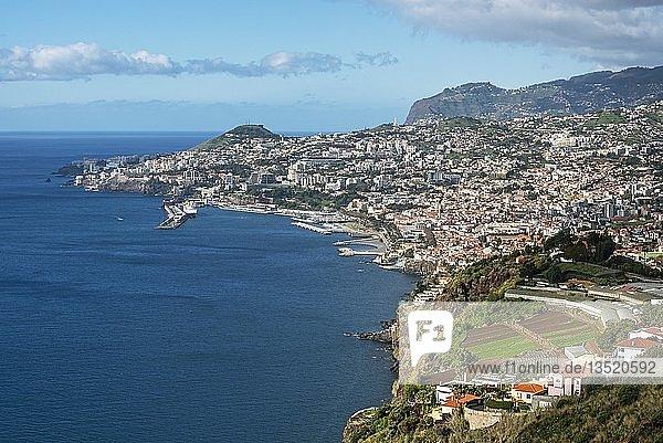 Hafen,  Stadtansicht,  Funchal,  Madeira,  Portugal,  Europa