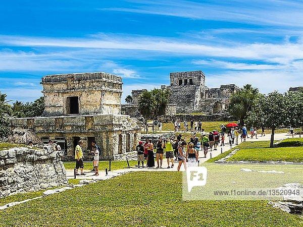 Maya-Ruinen  Tulum  Quintana Roo  Riviera Maya  Yucatan-Halbinsel  Mexiko  Mittelamerika