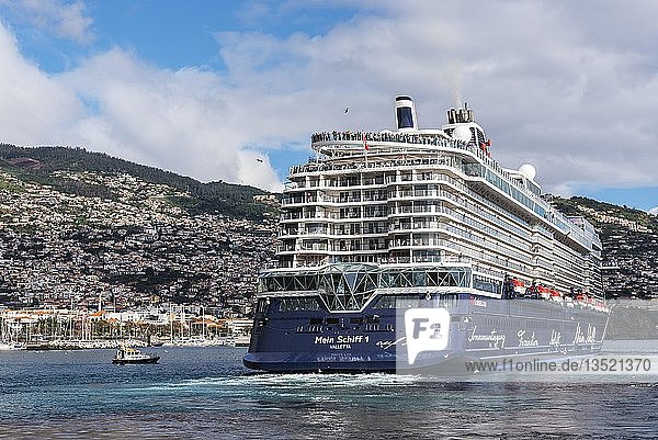 Kreuzfahrtschiff  Hafen  Funchal  Madeira  Portugal  Europa