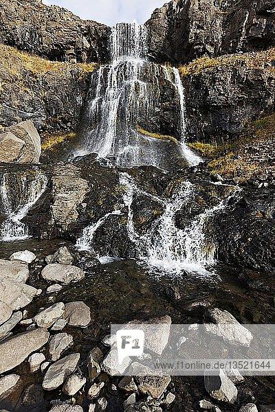 Waterfall  Westfjords  Iceland  Europe