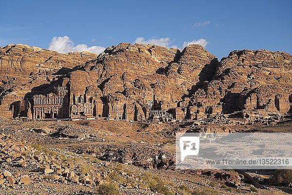 Gräber der Königswand  Petra  Jordanien  Asien