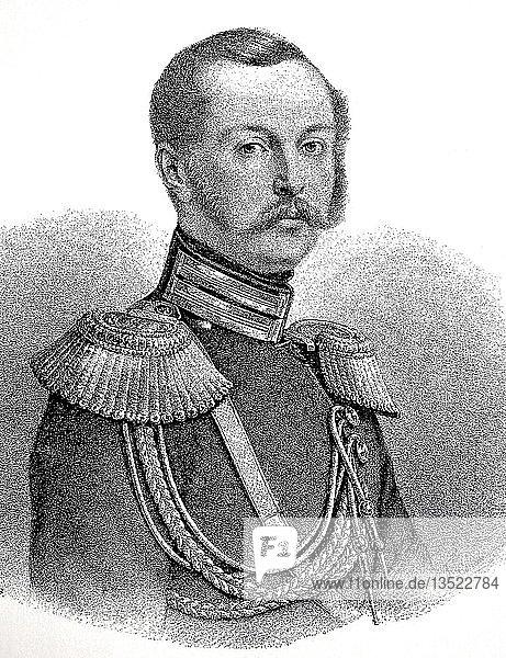 Alexander II. Nikolajewitsch  29. April 1818  13. März 1881  war von 1855 bis 1881 Kaiser von Russland  Holzschnitt  Russland  Europa