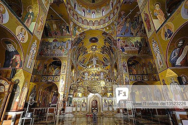 Innenraum  Serbisch-Orthodoxe Auferstehungskathedrale  Saborni Hram Hristovog Vaskrsenja  Podgorica  Montenegro  Europa