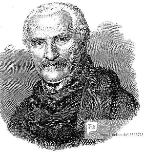 Fürst Gebhard Leberecht von Bluecher  Fürst von Wahlstatt  16. Dezember 1742  12. September 1819  Holzschnitt  Deutschland  Europa