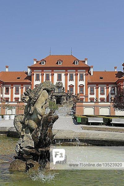 Schloss Troja  Prag  Böhmen  Tschechien  Tschechische Republik  Europa