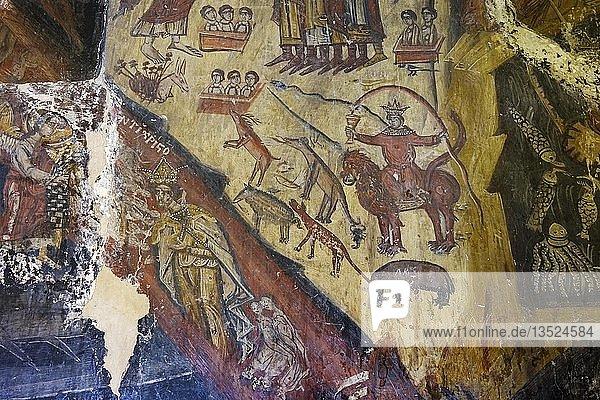 Fresken in byzantinischer Auferstehungskirche  Kisha e Ristozit  Mborje bei Korca  Region Korça  Albanien  Europa