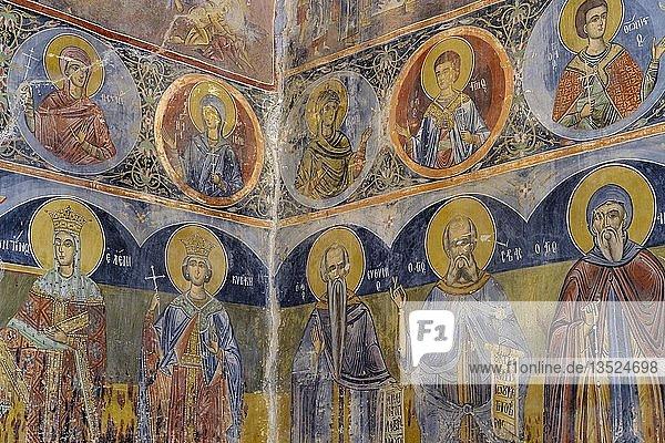 Alte Fresken in Nikolauskirche  Kirche  Shelcan  nahe Elabasan  Qark Elbasan  Albanien  Europa