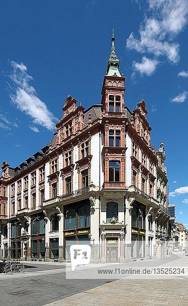 Klinger-Haus  Petersstraße  Leipzig  Sachsen  Deutschland  Europa