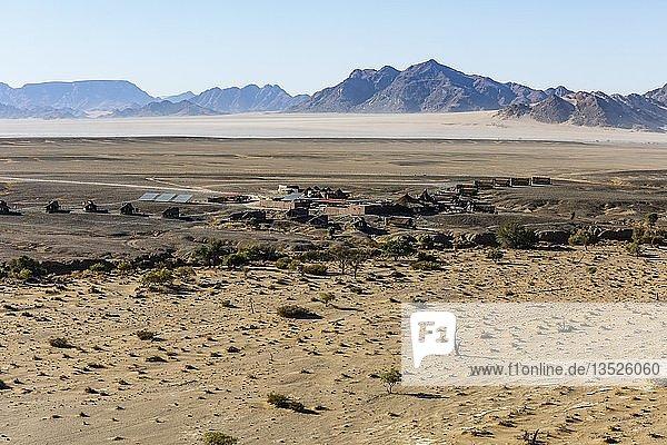 Luftaufnahme  Kulala Desert Lodge  Sossusvlei Nationalpark  Namib-Naukluft-Nationalpark  Namibia  Afrika