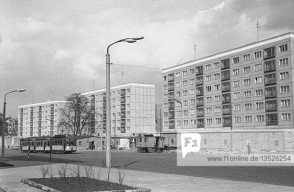 Wohnungsbau  Erste Plattenbauten  1963  Georgiring  Leipzig  Sachsen  DDR  Deutschland  Europa