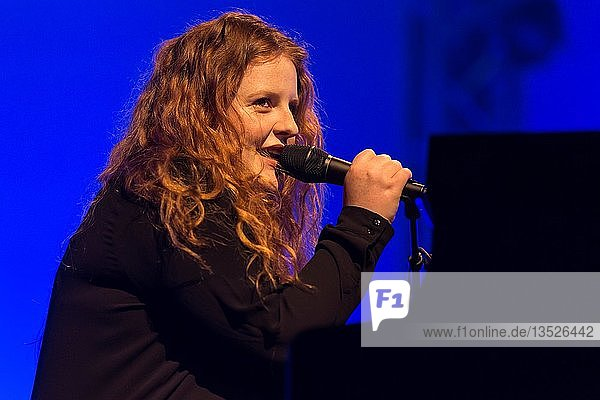The British singer and songwriter Frances live at the Blue Balls Festival Lucerne  Switzerland  Europe
