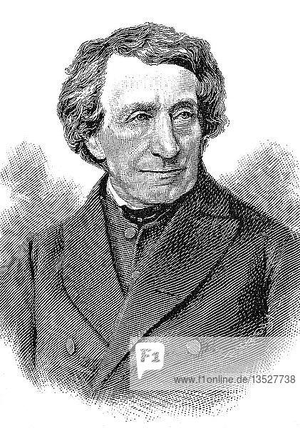 Johann Joseph Ignaz von Doellinger  28. Februar 1799  14. Januar 1890  Holzschnitt  Deutschland  Europa