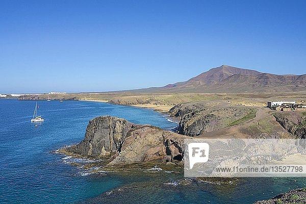 Naturpark Monumento Natural de Los Ajaches  Punta Papagayo  Playa Blanca  Lanzarote  Kanarische Inseln  Spanien  Europa