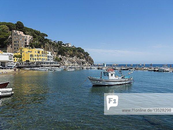 Corso Angelo Rizzoli  Strand mit Hafen  Lacco Ameno  Insel Ischia  Golf von Neapel  Kampanien  Italien  Europa