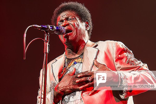The US-American soul singer Charles Bradley live at the Blue Balls Festival Lucerne  Switzerland  Europe