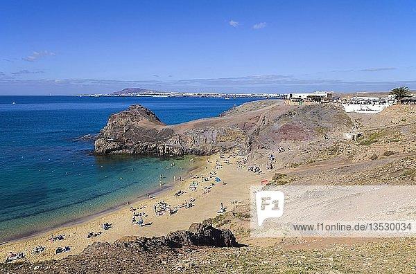 Playas de Papagayo  Naturpark Monumento Natural de Los Ajaches  Punta Papagayo  Playa Blanca  Lanzarote  Kanarische Inseln  Spanien  Europa