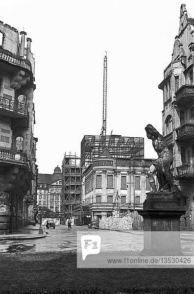 Zentraltheater  Ruine  Umbau zum Schauspielhaus  1955  Bosestraße  Leipzig  Sachsen  DDR  Deutschland  Europa
