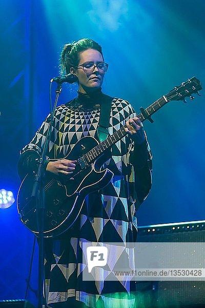 The Icelandic musician Sóley Stefánsdóttir live at the Blue Balls Festival Lucerne  Switzerland  Europe