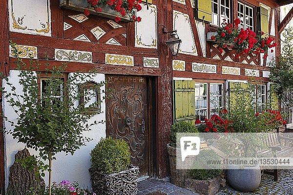 Gasthaus  Schwäbisches Bauernhofmuseum  Illerbeuren bei Kronburg  Unterallgäu  Allgäu  Schwaben  Bayern  Deutschland  Europa