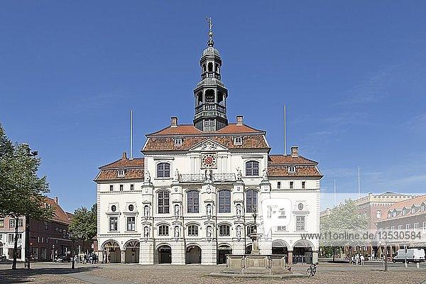 Rathaus  Altstadt  Lüneburg  Niedersachsen  Deutschland  Europa