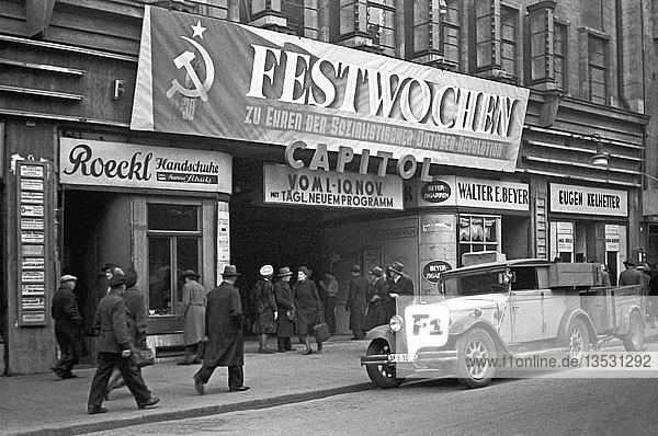 Filmtheater Capitol  1947  Petersstraße  Leipzig  Sachsen  DDR  Deutschland  Europa