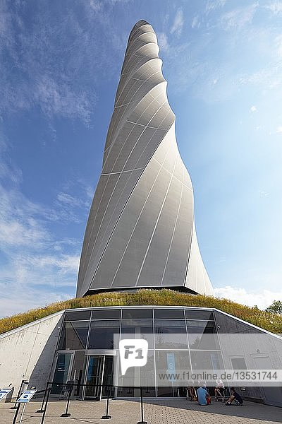 Besuchereingang  Thyssenkrupp Testturm für Aufzüge mit Besucherplattform  Rottweil  Baden Württemberg  Deutschland  Europa