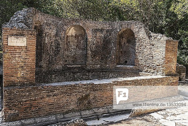 Brunnen  antike Stadt Butrint  Nationalpark Butrint  Saranda  Albanien  Europa