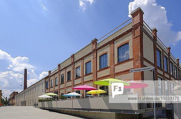 Restaurant nunó  Staatliches Textil- und Industriemuseum  Textilviertel  Augsburg  Schwaben  Bayern  Deutschland  Europa