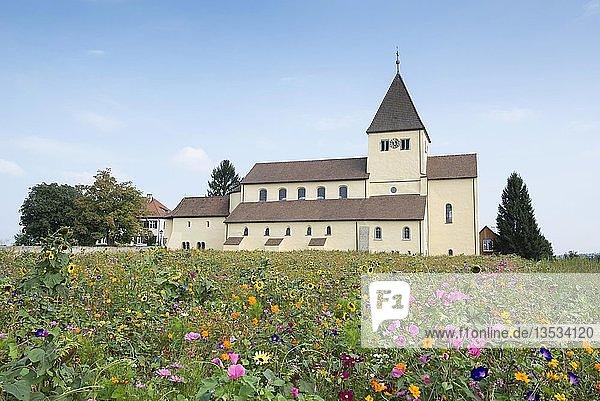 Kirche St. Georg  Oberzell  Reichenau  UNESCO Weltkulturerbe  Baden-Württemberg  Deutschland  Europa