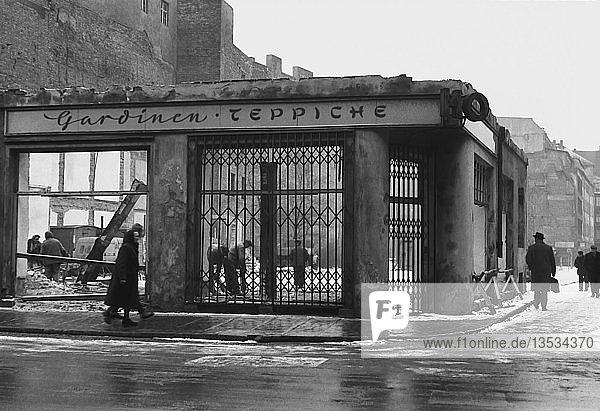 Abriss- und Bauarbeiten  1961  Nikolaistraße  Goldhahngässchen  Leipzig  Sachsen  DDR  Deutschland  Europa