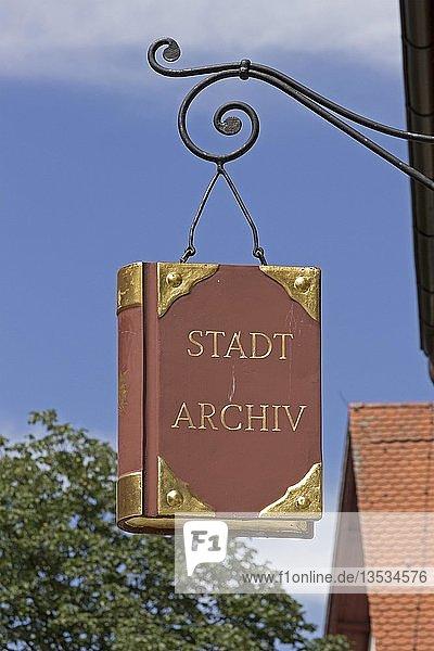 Aushängeschild  Stadtarchiv  Wangen  Allgäu  Baden-Württemberg  Deutschland  Europa