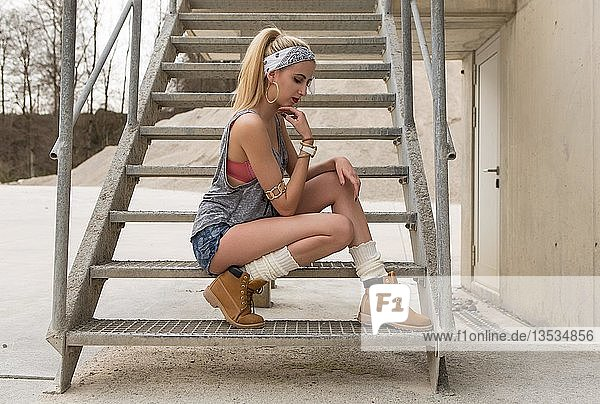 Young women posing in a casual look  fashion