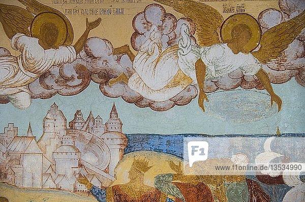 Freskos in der Kathedrale des Kremls von Rostov-veliky  goldener Ring  Russland  Europa