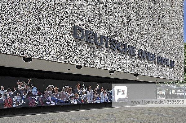 Deutsche Oper Berlin  Außenansicht  Berlin  Deutschland  Europa