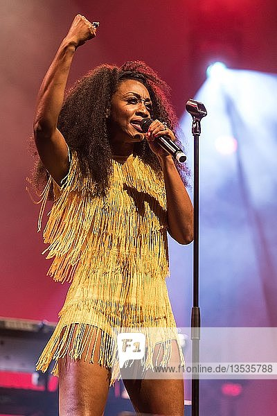British soul singer Beverley Knight live at the 26th Blue Balls Festival in Lucerne  Switzerland  Europe