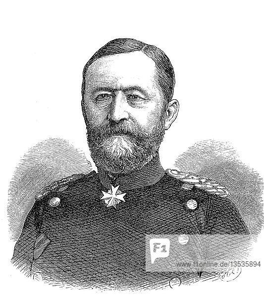 Oskar Ernst Karl von Sperling  31. Mai 1814  1. Mai 1872  preußischer Generalmajor  Holzschnitt  Portrait  Deutschland  Europa
