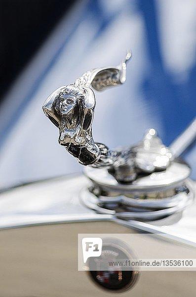 Kühlerfigur auf einem US-amerikanischen Cadillac Oldtimer  Oldtimertreffen Retro Classics meets Barock  Schloss Ludwigsburg  Baden-Württemberg  Deutschland  Europa