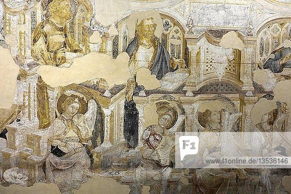 Fresko Krönung der Jungfrau  genannt das Paradies  Ausschnitt  Dogenpalast  Palazzo Ducale  Venedig  Venetien  Italien  Europa