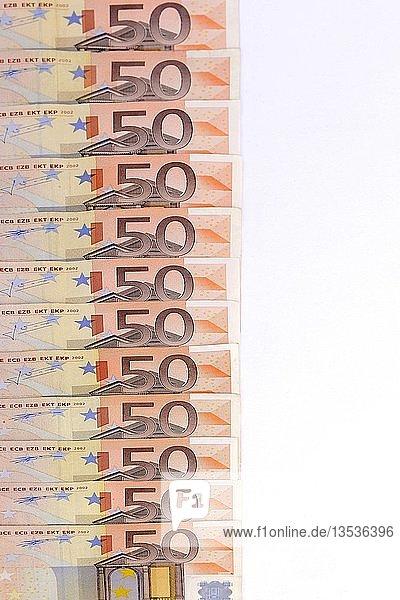 50 Euronoten  Geldscheine