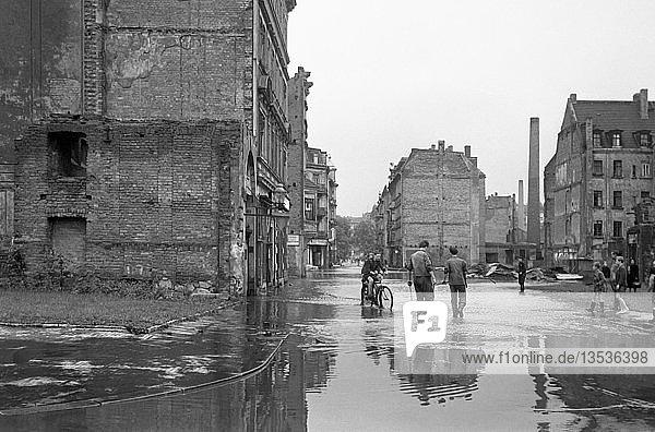Hochwasser  1954  Kolonnadenstraße  Leipzig  Sachsen  DDR  Deutschland  Europa