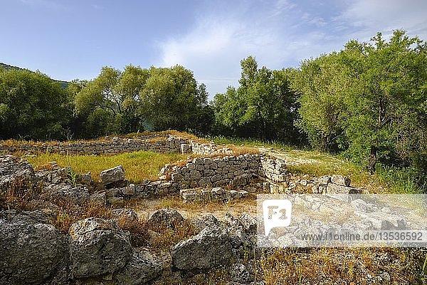 Akropolis  antike Stadt Butrint  Nationalpark Butrint  bei Saranda  Qark Vlora  Albanien  Europa