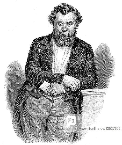 Robert Blum  10. November 1807  9. November 1848  Politiker  Publizist  Verleger und Dichter  Holzschnitt  Deutschland  Europa