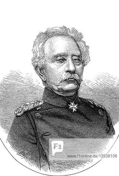 Karl Friedrich von Steinmetz  27. Dezember 1796  2. August 1877  Generalfeldmarschall  Holzschnitt  1885  Deutschland  Europa