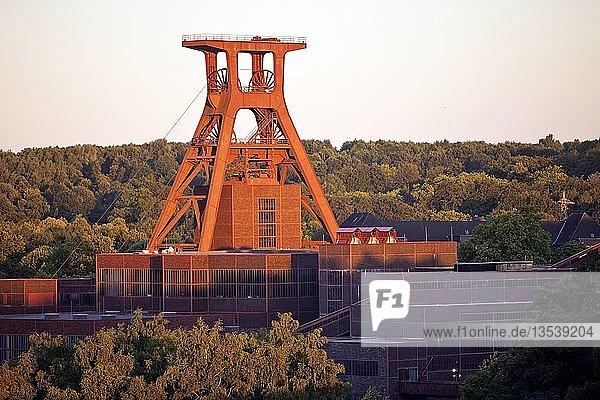 Zeche Zollverein mit dem Fördergerüst Schacht XII  Essen  Ruhrgebiet  Nordrhein-Westfalen  Deutschland  Europa