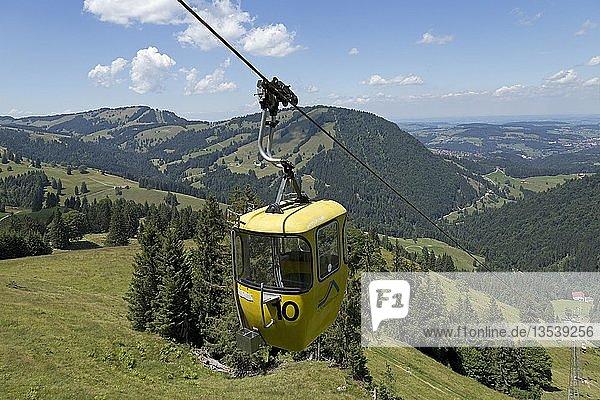 Hochgratbahn  Nagelfluhkette bei Steibis  Allgäu  Bayern  Deutschland  Europa