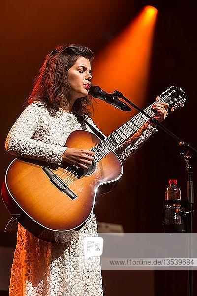 The British singer and songwriter Katie Melua live at the Blue Balls Festival Lucerne  Switzerland  Europe