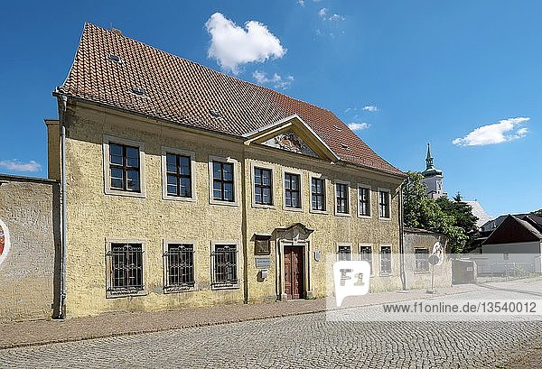 Geburtshaus von Joachim Ringelnatz  der hier am 7.8.1883 als Hans Gustav Bötticher zur Welt kam  Rigelnatzstadt Wurzen  Sachsen  Deutschland  Europa
