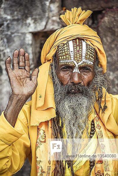 Sadhu  Asket  heiliger Mann  Pashupatinath  Kathmandu  Nepal  Asien